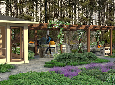 outdoor garden landscape architect