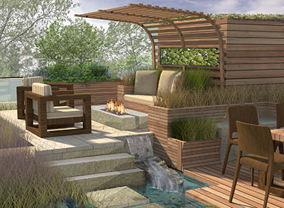 roof garden landscape architects